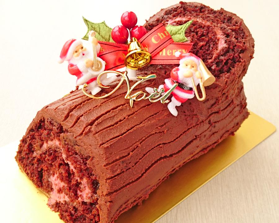 【ひばりヶ丘・教室】卵・乳製品を使わないクリスマスケーキ「ブッシュドノエル」
