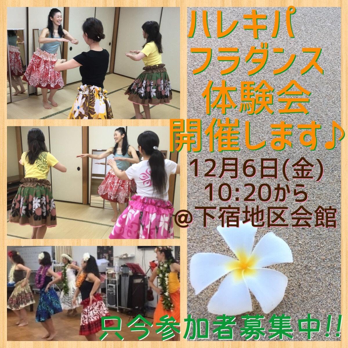 【西東京市田無・教室】フラダンス体験会♪
