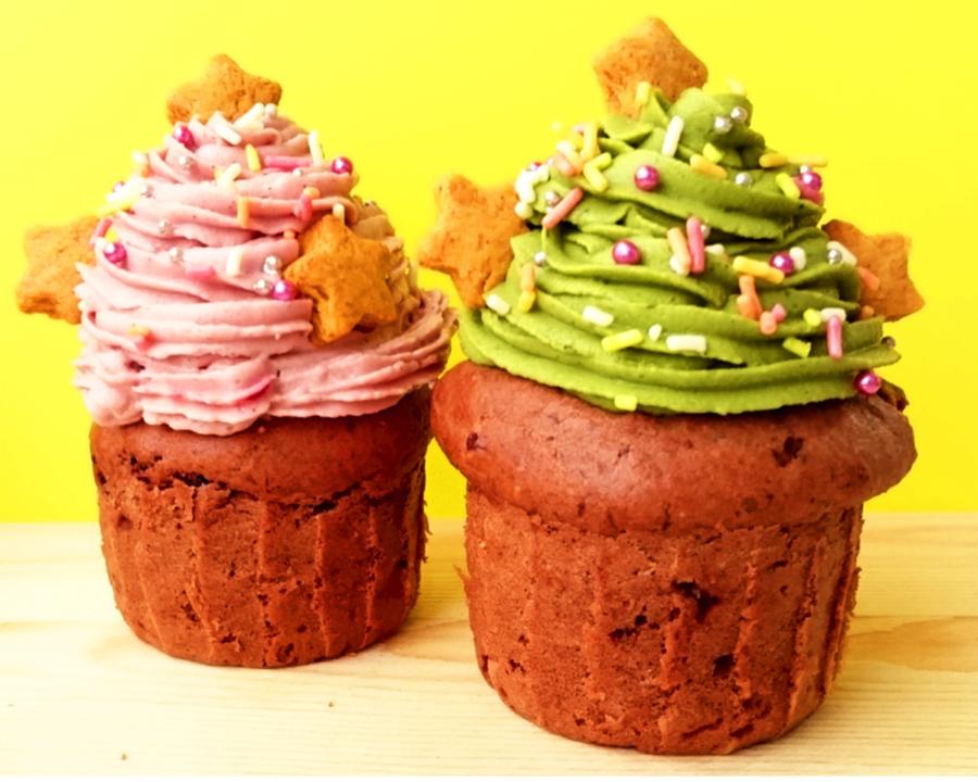 【ひばりヶ丘・教室】卵・乳不使用!クリスマスツリーのようなカップケーキを作ろう!